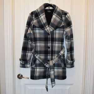 Lady Hathaway Plaid 3 Button Jacket Size Medium